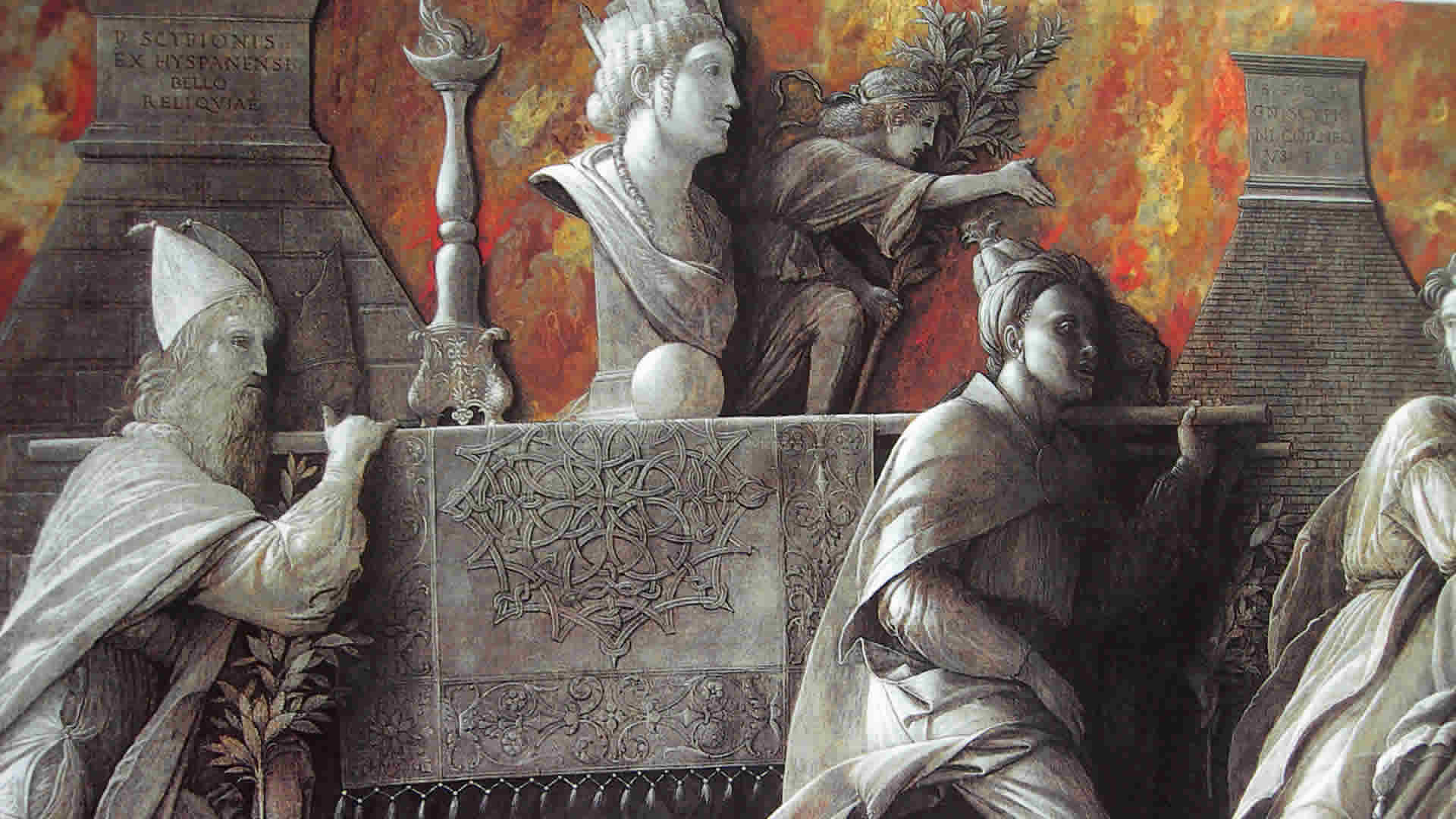 Andrea Mantegna Introduction of the Cult of Cybele at Rome 1505-6 - Detail