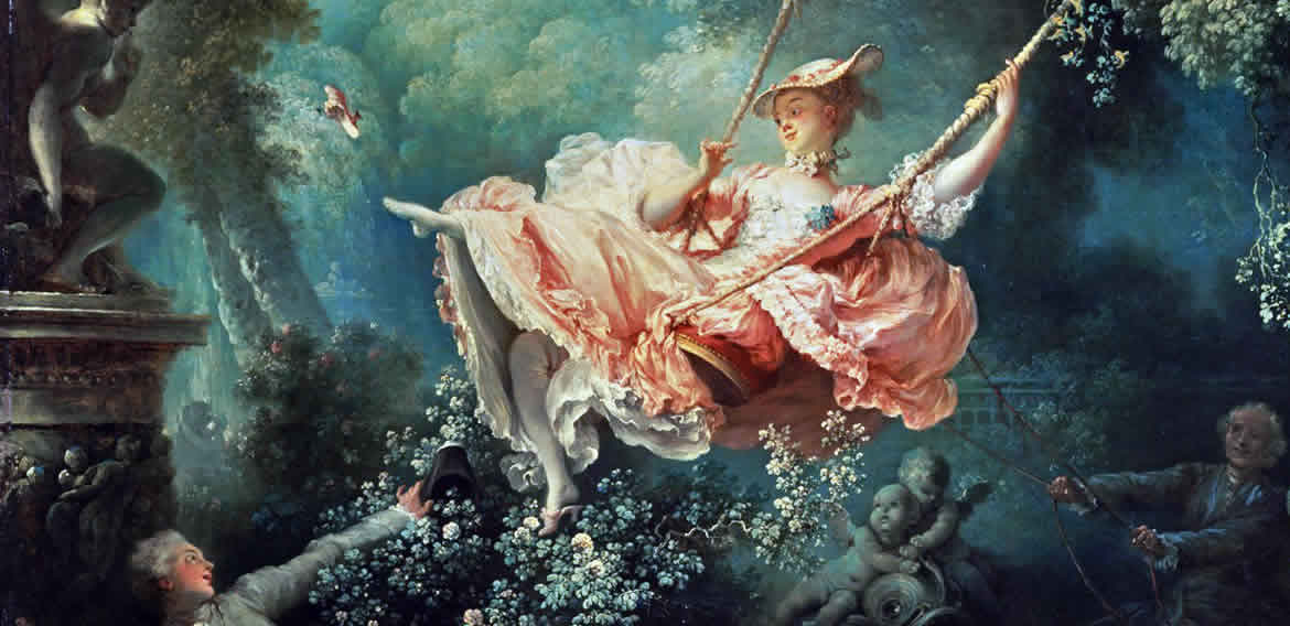 Jean-Honoré Fragonard The Swing c1767 – detail